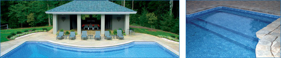 Steel Inground Pool Step Construction in St. Louis